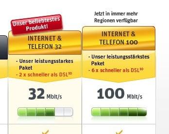 Kabel Deutschland 100 Mbit/s in Ludwigshafen