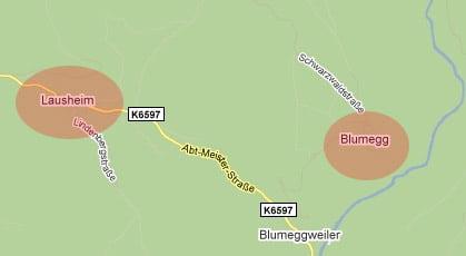 Blumegg und Lausheim ohne DSL