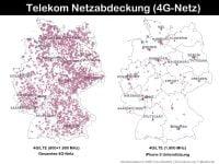 Telekom 4G-Netzabdeckung für iPhone 5