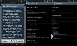 Android-Update für Galaxy Note 2 LTE
