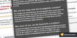 6 Monate Grundgebühr Erstattung bei Kabel Deutschland