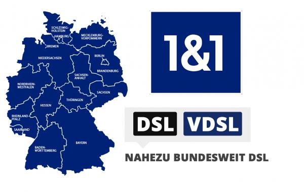 1&1 DSL-Verfügbarkeit