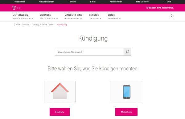 Telekom Festnetz-Vertrag kündigen