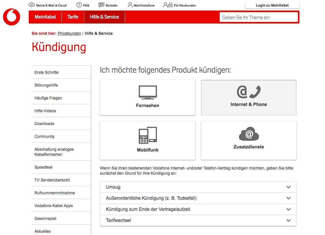 so kndigen sie vodafone kabel deutschland vertrge - Vodafone Kundigung Muster