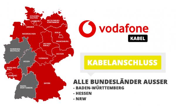 Vodafone Kabel-Verfügbarkeit